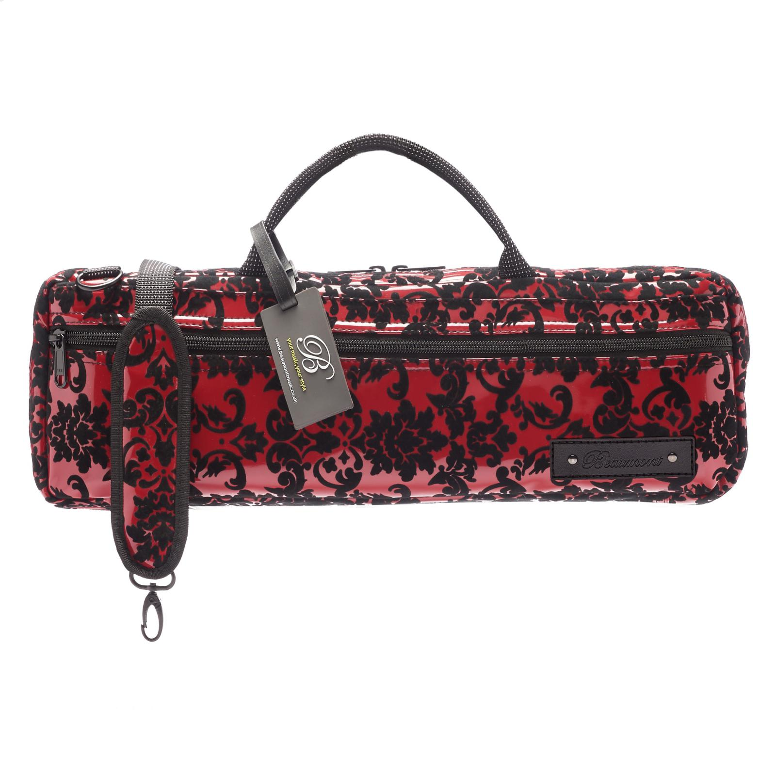 b9830588dee Beaumont Burgundy Lace B-foot Flute Bag. Beautifully handmade flute carry case  in ...